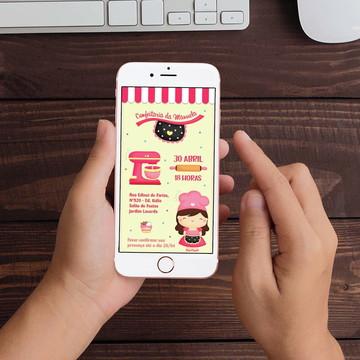 Convite Digital Confeitaria Patisseria WhatsApp Infantil