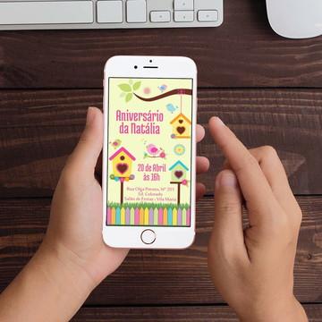 Convite Digital Jardim Encantado WhatsApp Infantil
