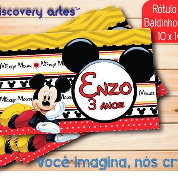 Rótulo Adesivo Baldinho de Pipoca Mickey