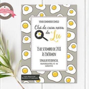 Convite digital Chá de Cozinha / Casa Nova