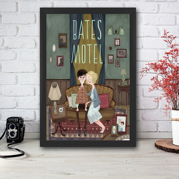 Poster Bates Motel com moldura