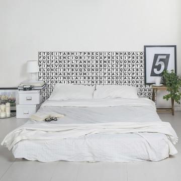 Cabeceira Adesiva Caça Palavras (cama solteiro)