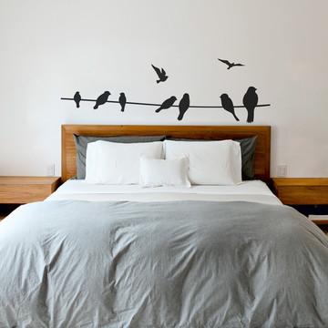 Cabeceira Adesiva Pássaros