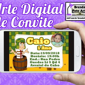 Arte Digital Convite Chaves