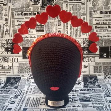 Coroa de corações tiara de carnaval