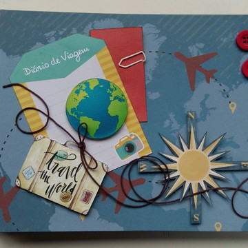 Álbum Scrapbook Viagem Globo Terrestre