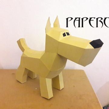 Cachorro - Totó - Papercraft