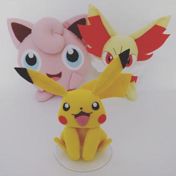 Kit 1 Pokemon – Pikachu, Jigglypuff e Fennekin