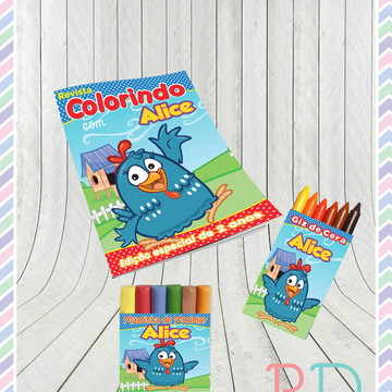 Kit Colorir com massinha Galinha Pintadinha