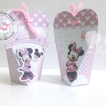 """Caixa coração """" Minnie Rosa"""""""