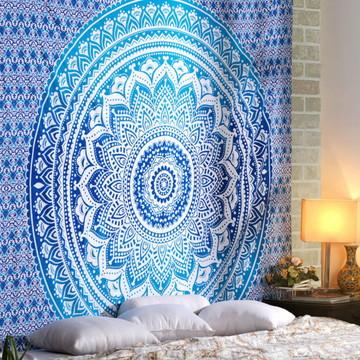 Tecido colorido artesanal painel cortina colcha manta