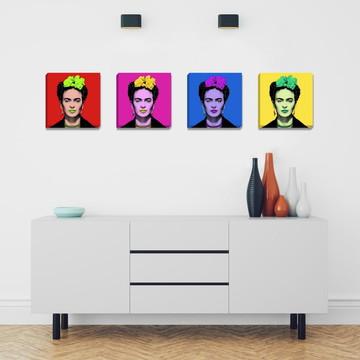 Kit Quadros Canvas 20x20cm Frida Pop