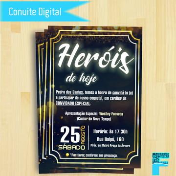 Convite Digital para Coquetel Jovem - Igrejas