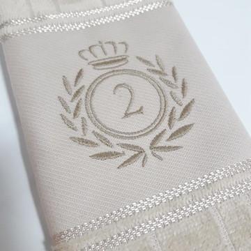 Toalha de Lavabo Bordada Personalizada #M2