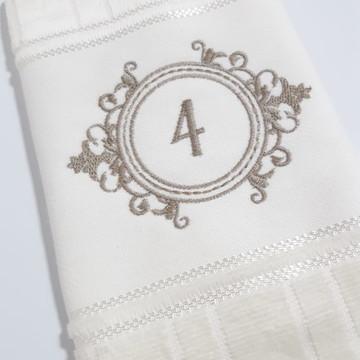 Toalha de Lavabo Bordada Personalizada #M4