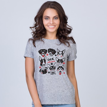 Camiseta Baby Look Dog Collection