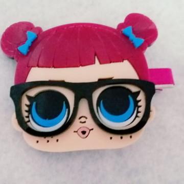 184c32f1c Presilha encapado e aplique acrílico boneca lol óculos p