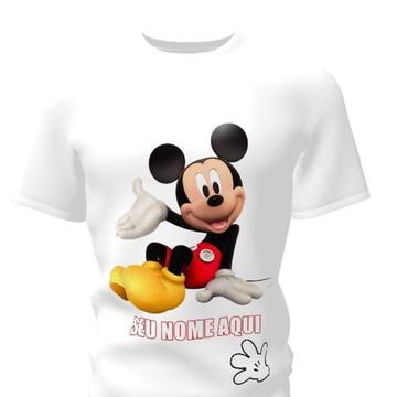 Camiseta Camisa Blusa Personalizada Disney Mickey Minnie