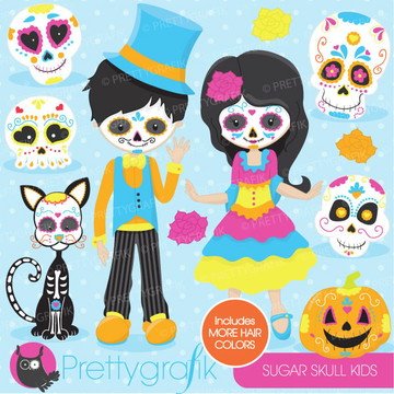 Kit Digital Halloween Dia Bruxas Caveira Mexicana PG