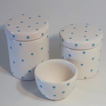 Potes de Porcelana para kit higiene