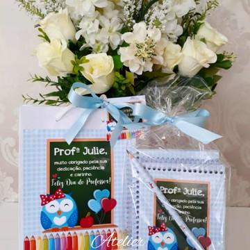 Kit Dia dos Professores 1 Mini caderno+1 Bloquinhos+1 Lápis