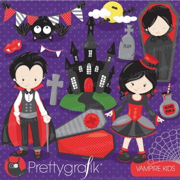 Kit Digital Imagens Halloween Vampiros Dia das Bruxas PG