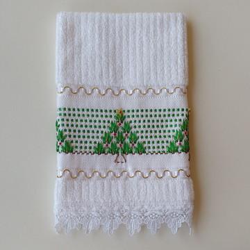 Toalha Lavabo Natalina - Toalha de Mão