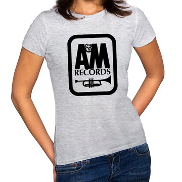 Camiseta Feminina Baby Look Gravadora A&M Records