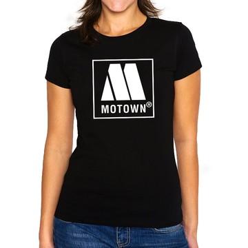 Camiseta Feminina Baby Look Gravadora Motown Records