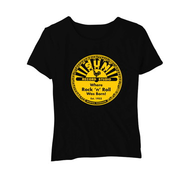 Camiseta Feminina Baby Look Gravadora Sun Records