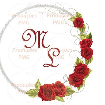 Monograma (brasão) casamento digital