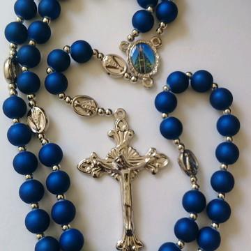 Terço de Nossa Senhora Aparecida Azul