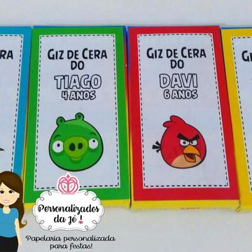 Giz de Cera Angry Birds