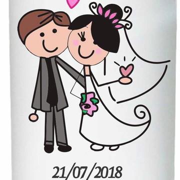 Copos personalizados tema casamento