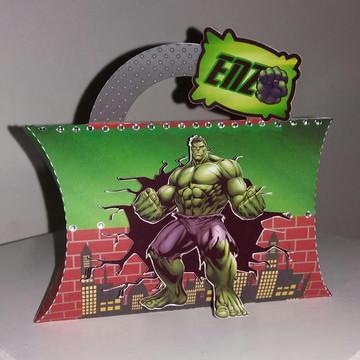 Caixa almofada - mimo de luxo Hulk