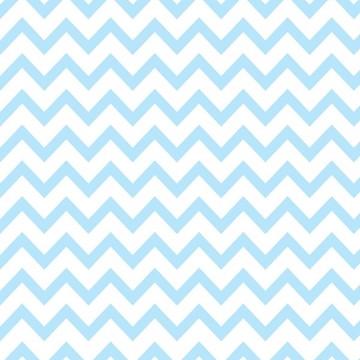 Papel de Parede Chevron Quarto Bebê Azul e Branco