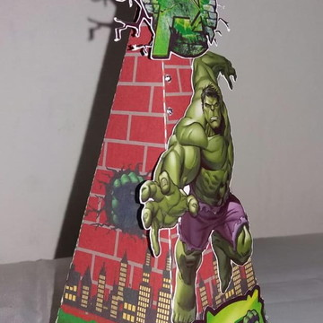 Caixa Cone - Mimos de luxo Hulk