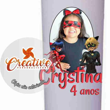 Copo Long Drink Lady Bug Miraculous