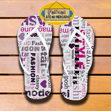 Chinelos Personalizados para festa teen!! Fashion!