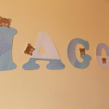 Bandeirola azul com ursinhos