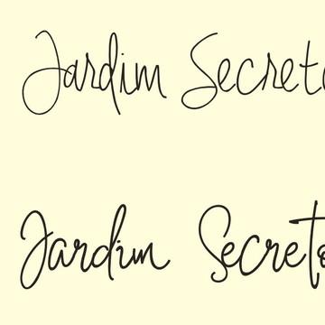 Frase de parede (arame) - Jardim Secreto