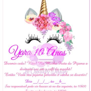 Convite Unicórnio