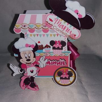 Caixa carrinho de doces - Mimos de luxo Minie Confeiteira