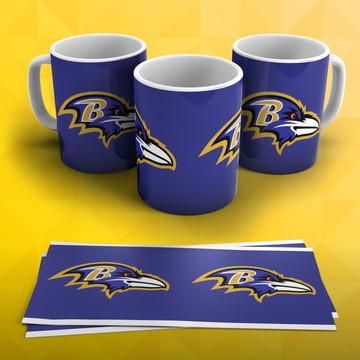 b8283a3bb Caneca Futebol Americano Nfl Baltimore Ravens
