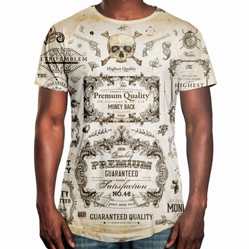 9fd77d567 Camiseta Masculina Longline Swag Caligrafia Old School