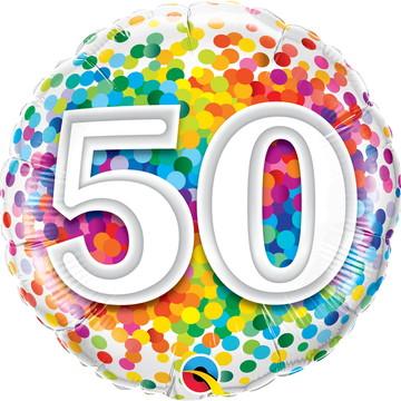 Balão Metalizado Aniversário 50 Anos – 1 unidade