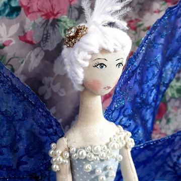 Boneca Fadinha Encantada Azul