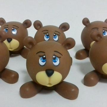 Urso Aplique biscuit -Pronta entrega