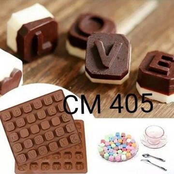Molde de silicone chocolate alfabeto