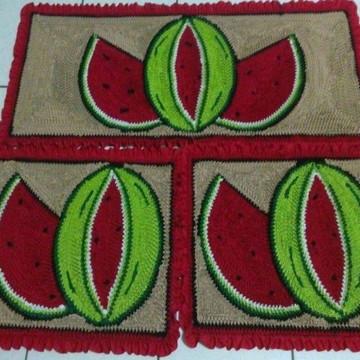 Jogos de tapetes para cozinha fru fru